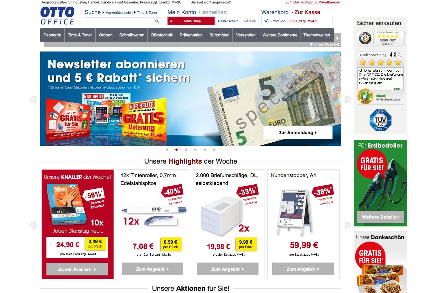 c2491cd879e01b Otto Office 10€ Cashback Gutschein - 2019 garantiert gültig