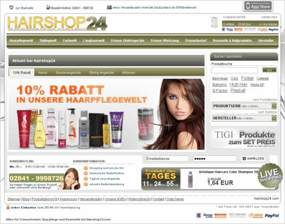 hairshop24.com Gutschein