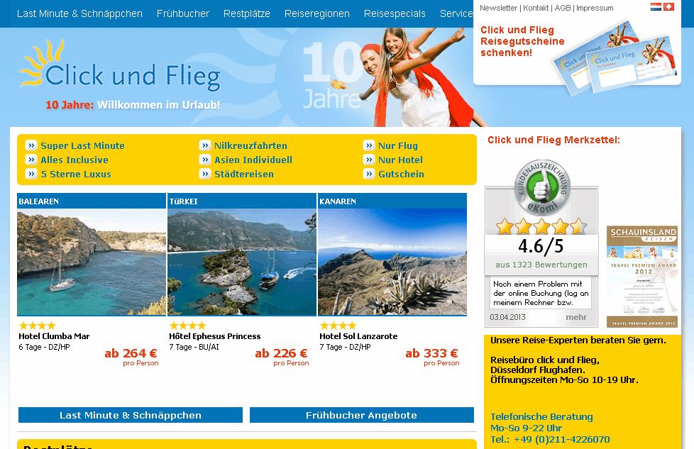 Click und Flieg Gutschein