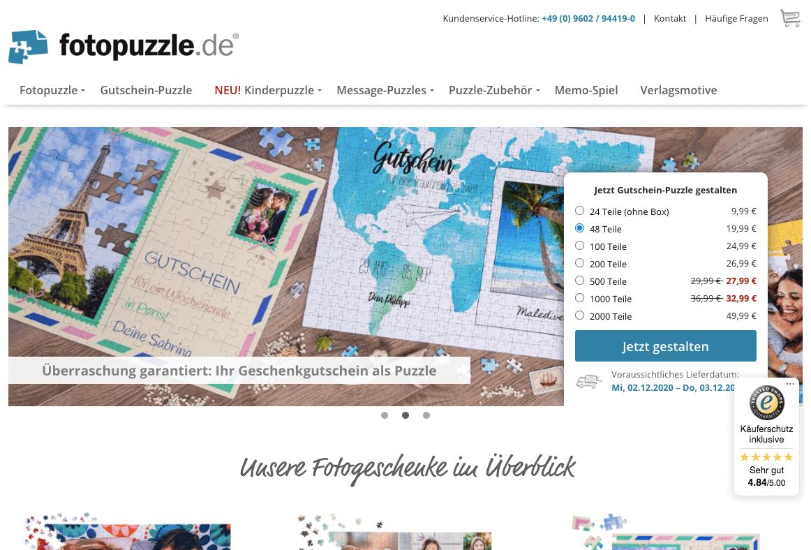 fotopuzzle.de Gutschein