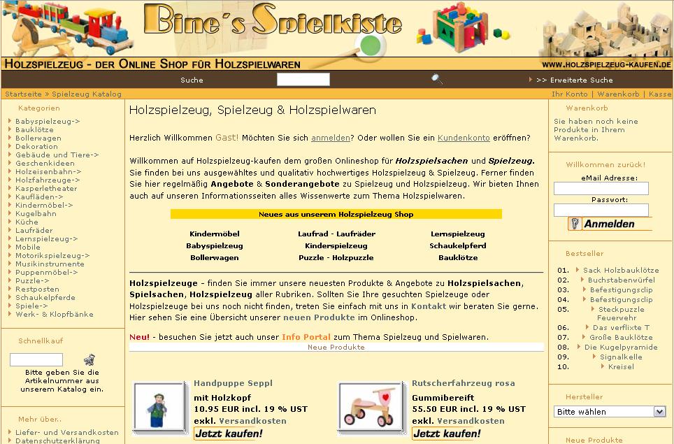 Holzspielzeug-Shop Gutschein