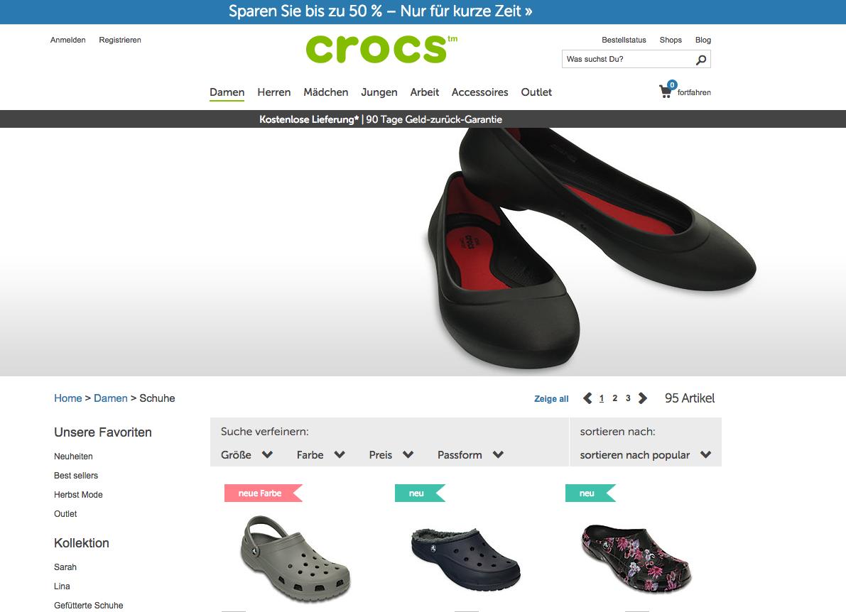 Crocs Gutschein