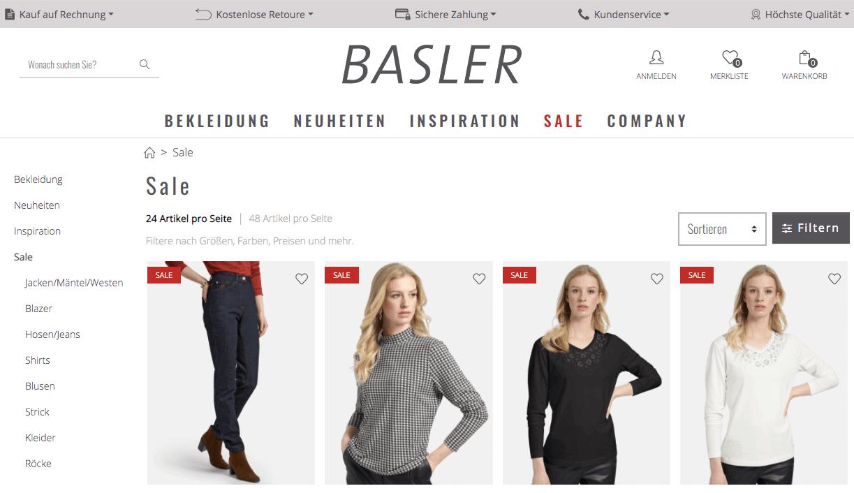 Basler-Fashion Gutschein