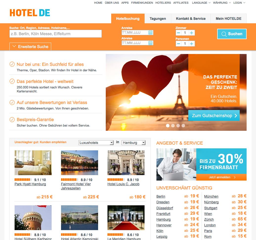HOTEL DE Gutschein