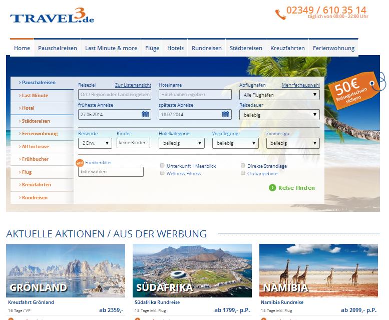Travel3 Gutschein