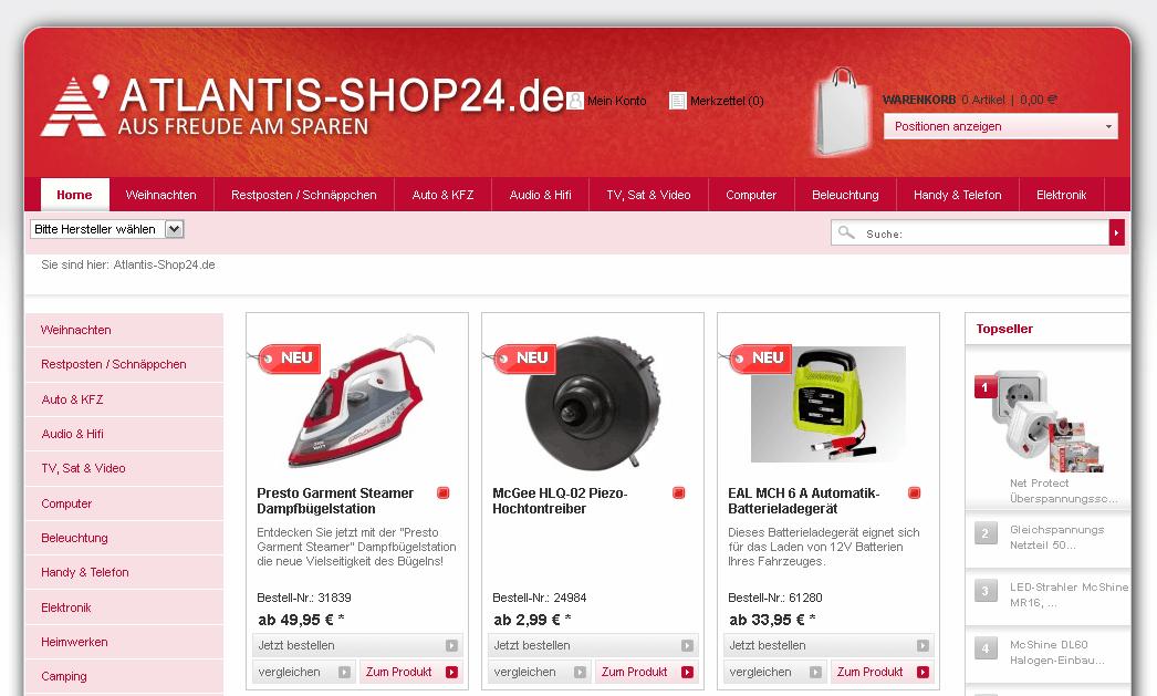 Atlantis-Shop24.de Gutschein