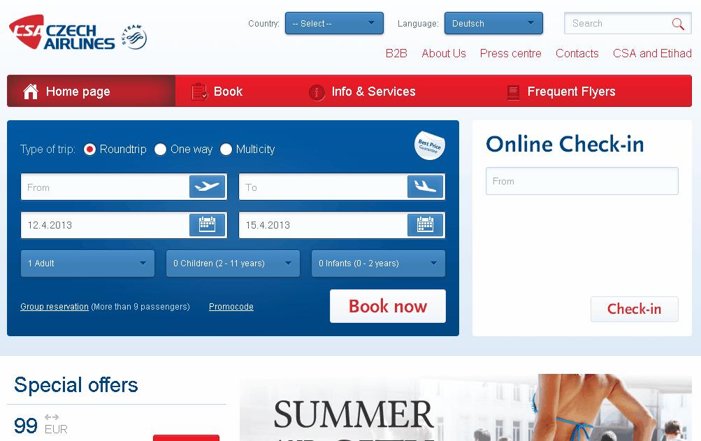 Czech Airlines Gutschein