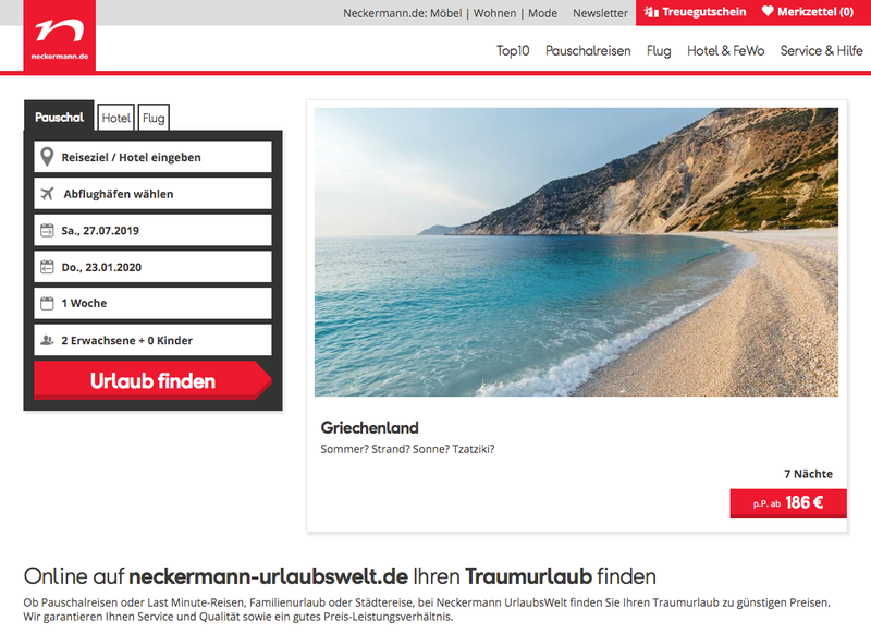 Neckermann Urlaubswelt Gutschein