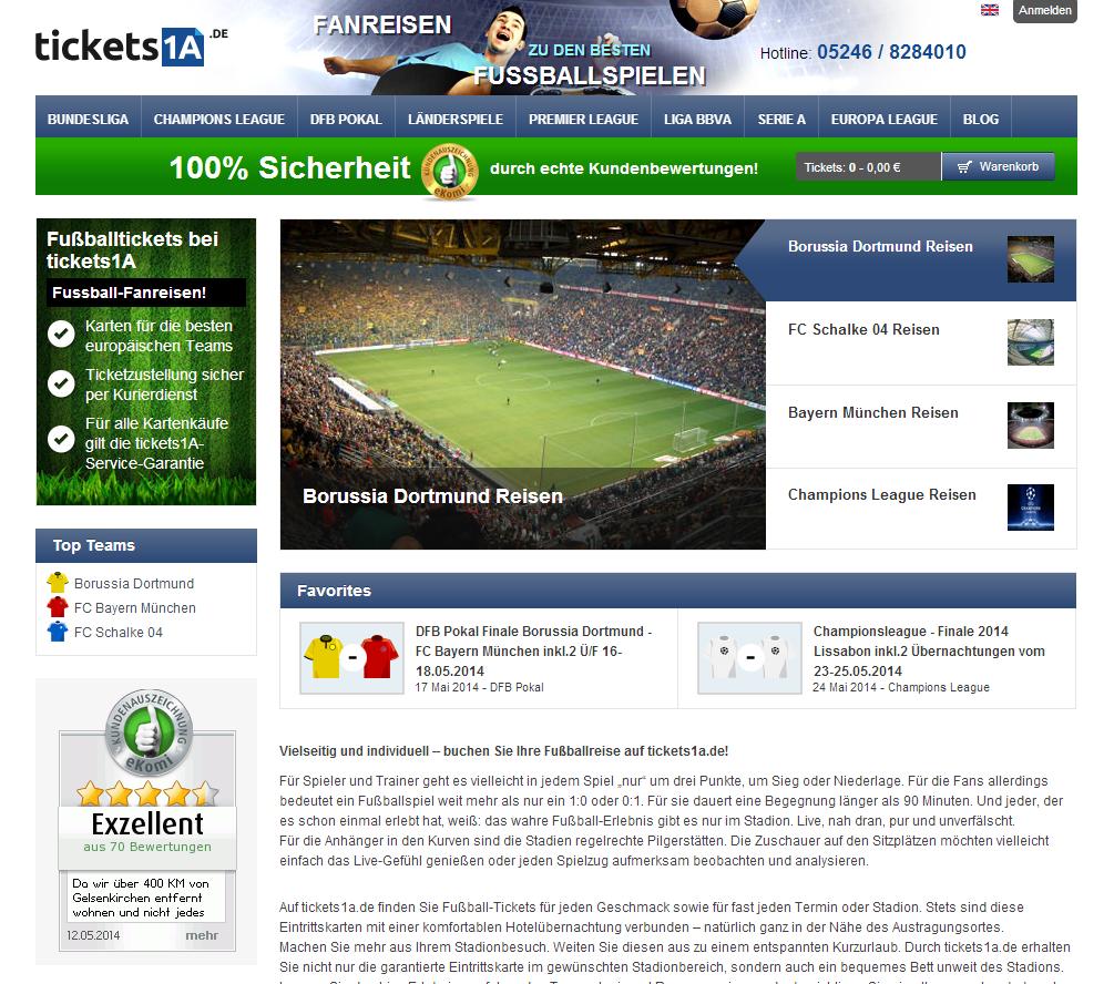 tickets1a.de Gutschein