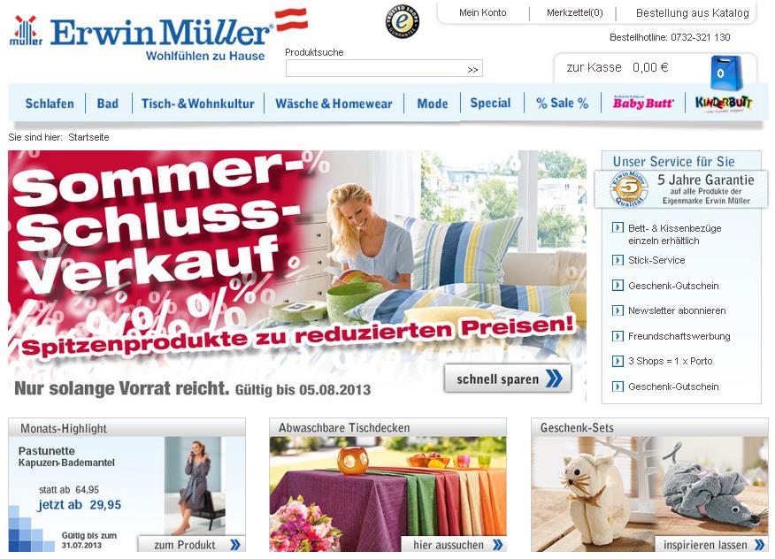 Erwin Müller AT Gutschein