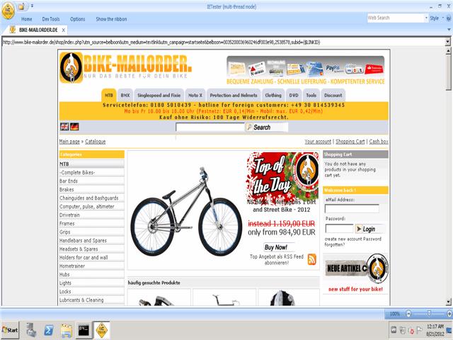 Bike-Mailorder Gutschein