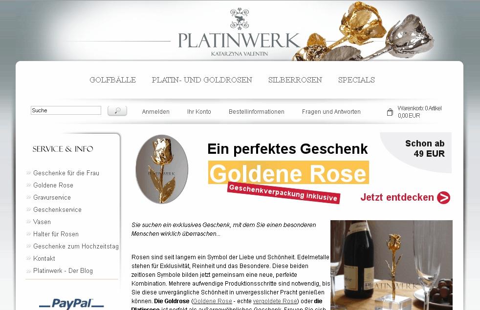 Platinwerk.com Gutschein