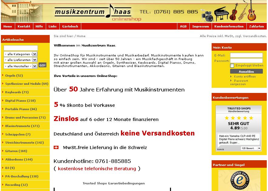 Musikzentrum Haas Gutschein