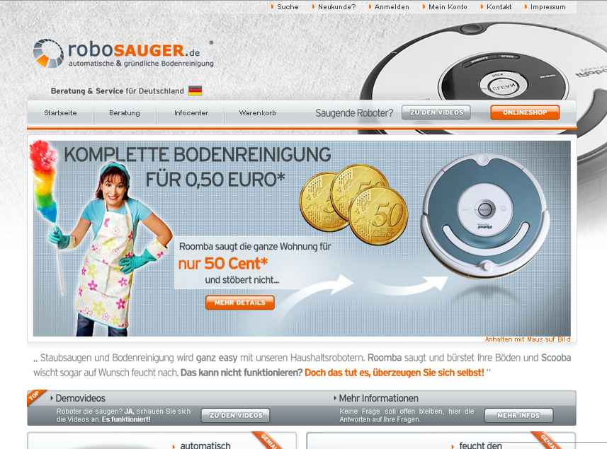 Robosauger.com Gutschein