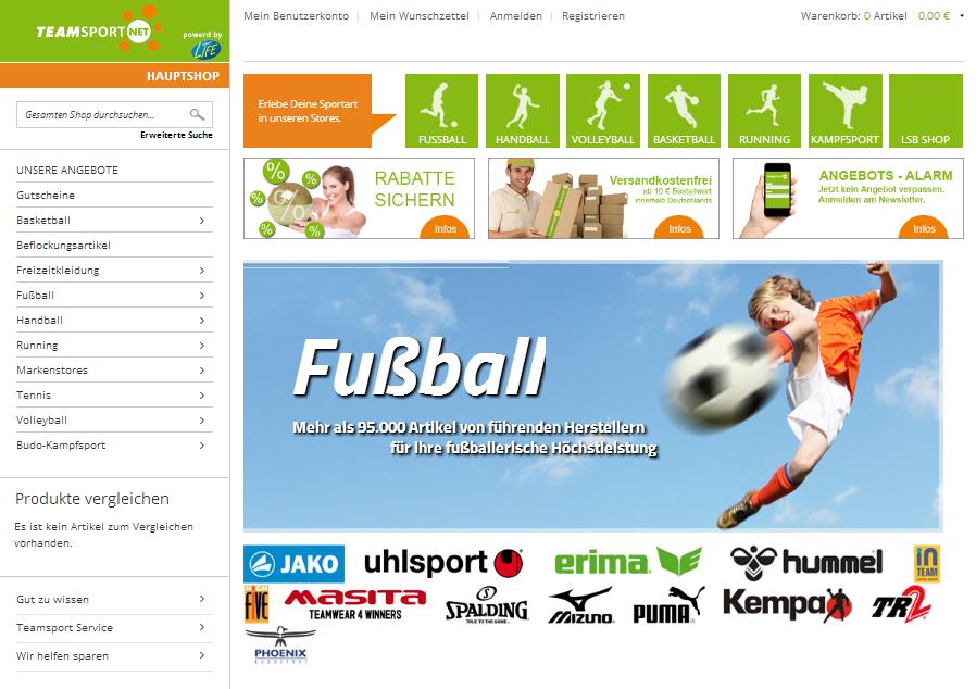 teamsport.net Gutschein