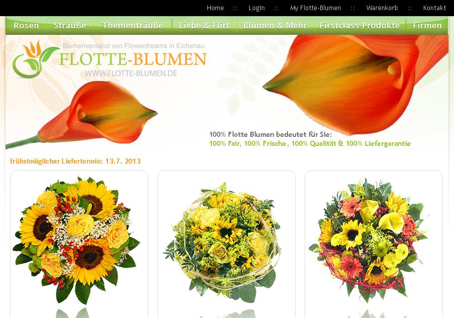 Flotte Blumen Gutschein