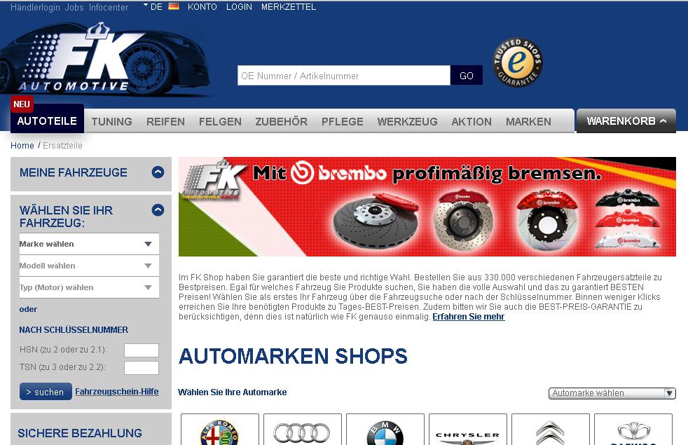FK-Automotive Gutschein