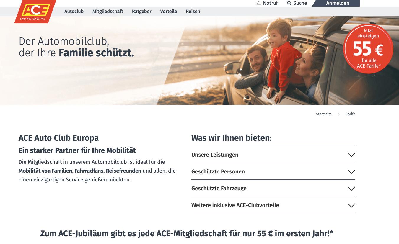 ACE - Auto Club Europa Gutschein