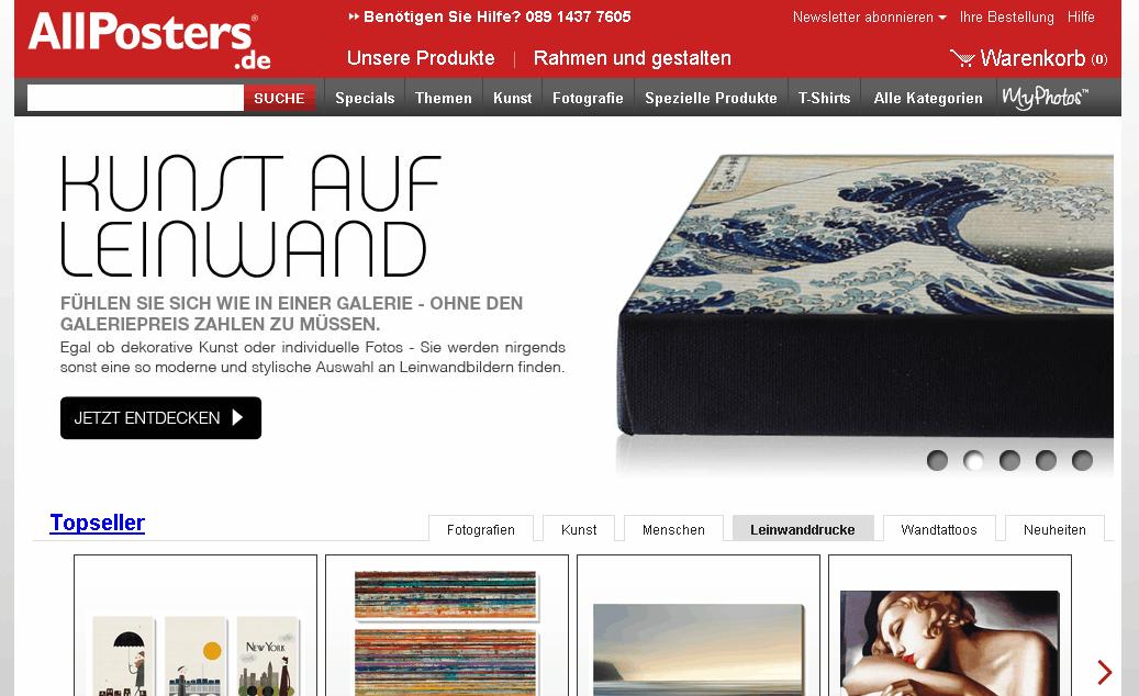 Allposters.de Gutschein