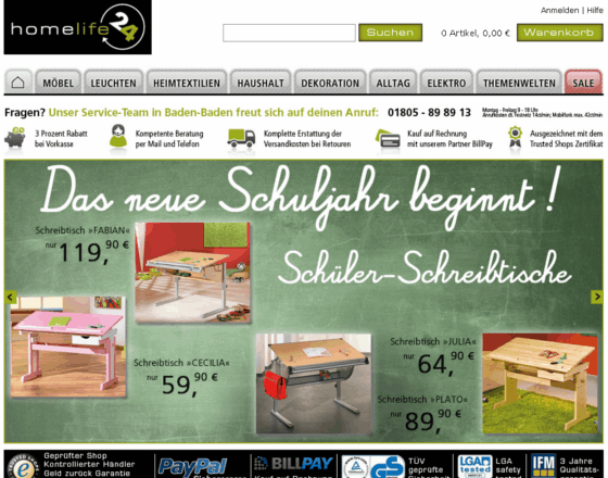 Homelife24 Gutschein