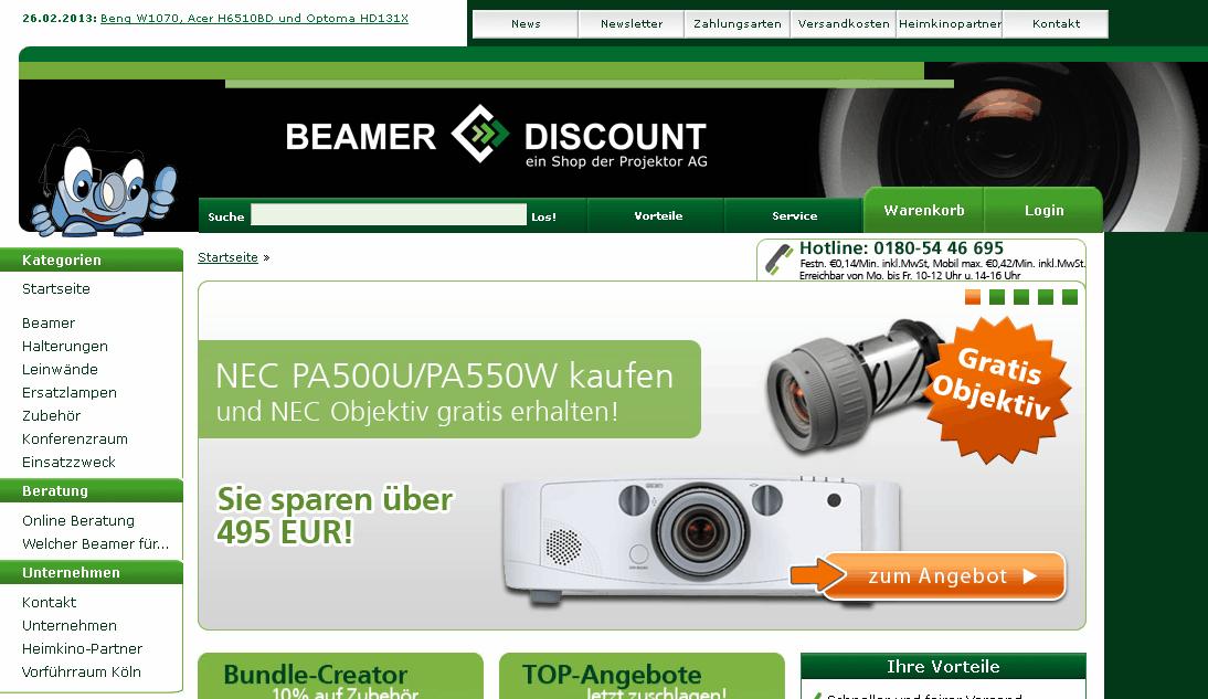 Beamer-Discount Gutschein