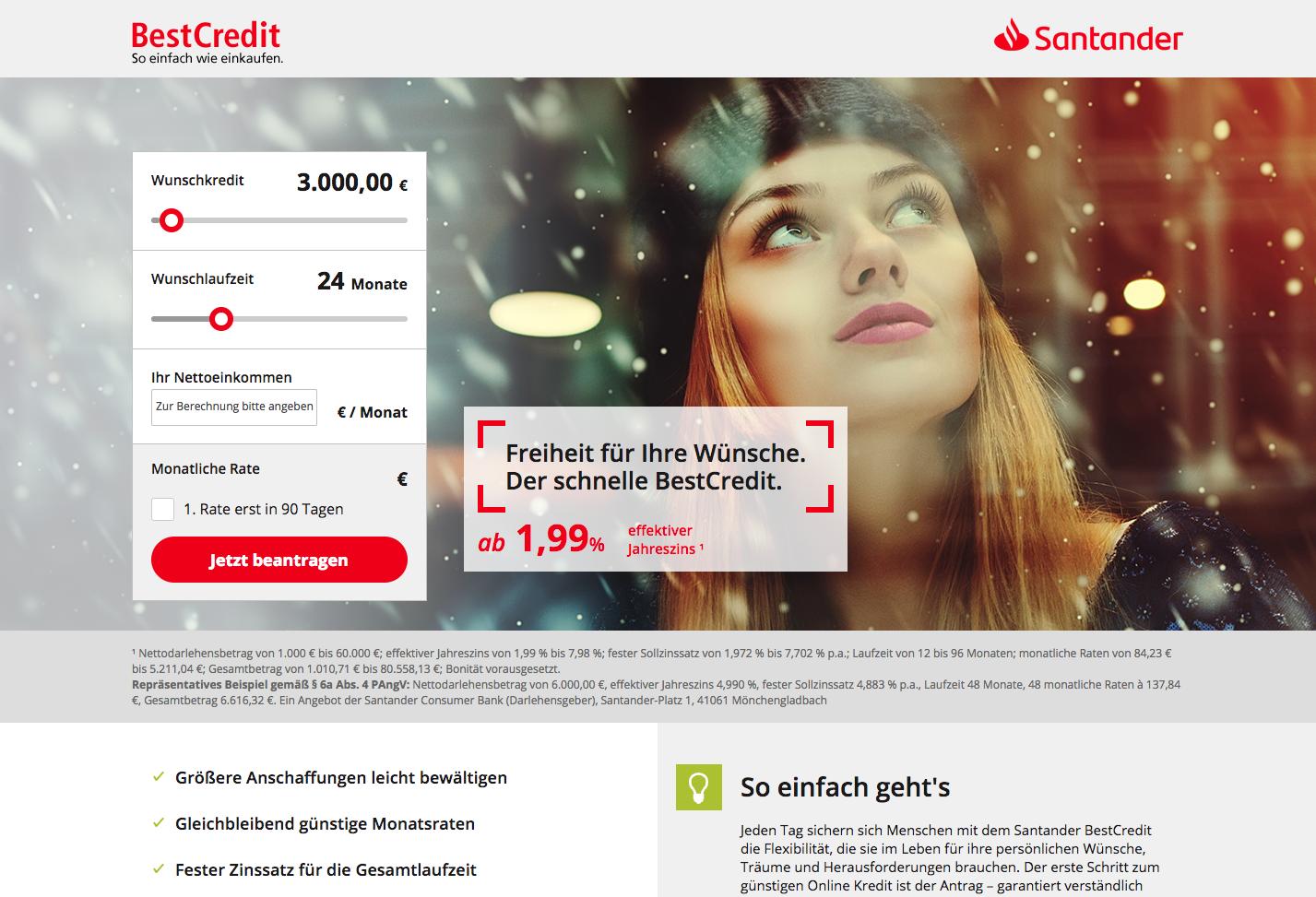 Santander BestCredit Gutschein