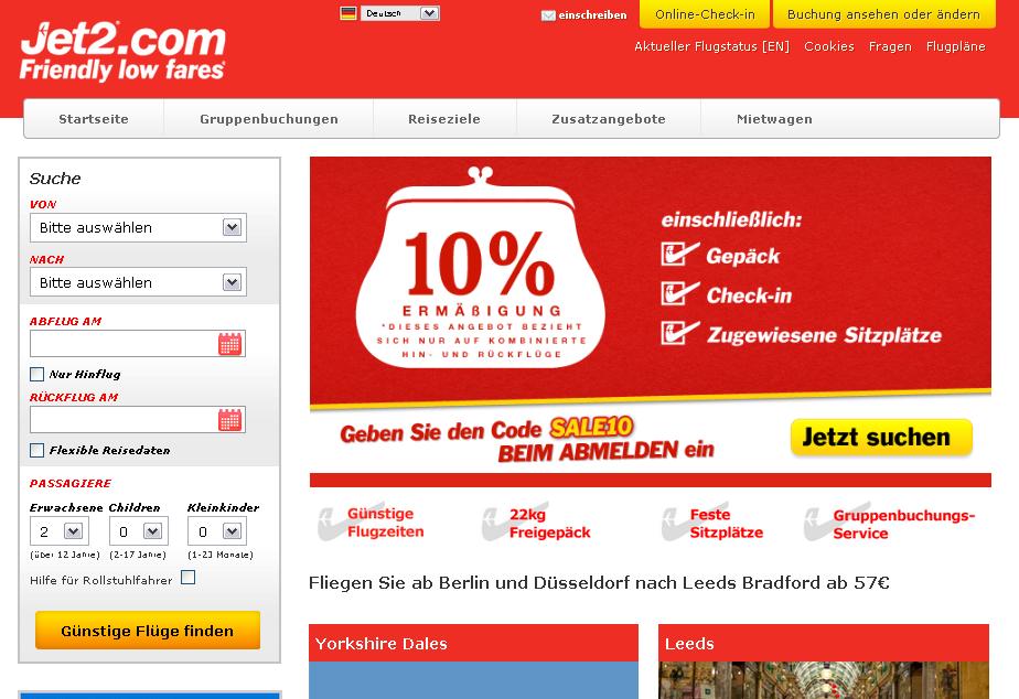 Jet2.com Gutschein