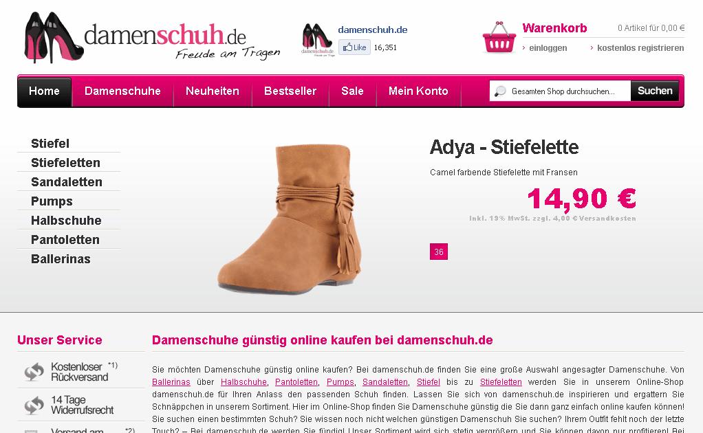 damenschuh.de Gutschein