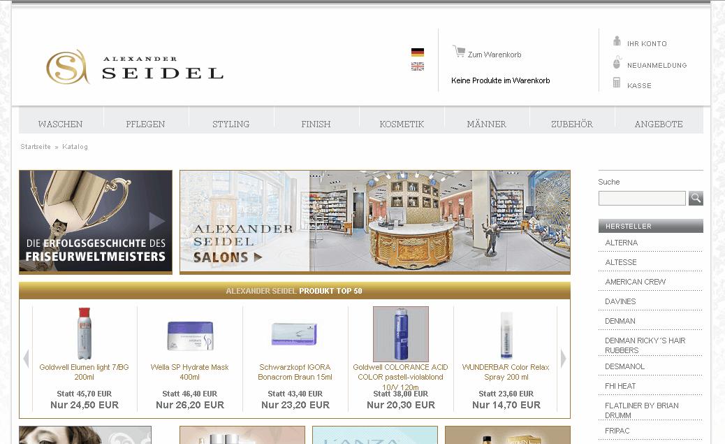 Alexander Seidel Shop Gutschein