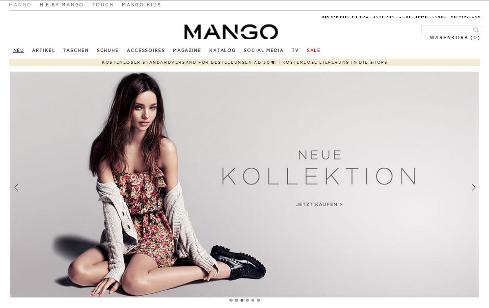 Mango Gutschein
