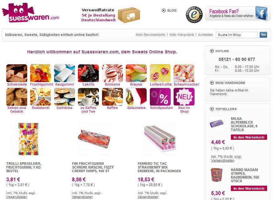 suesswaren.com Gutschein