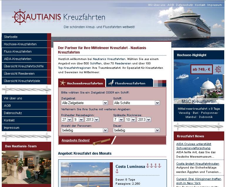 Nautianis-Kreuzfahrten Gutschein