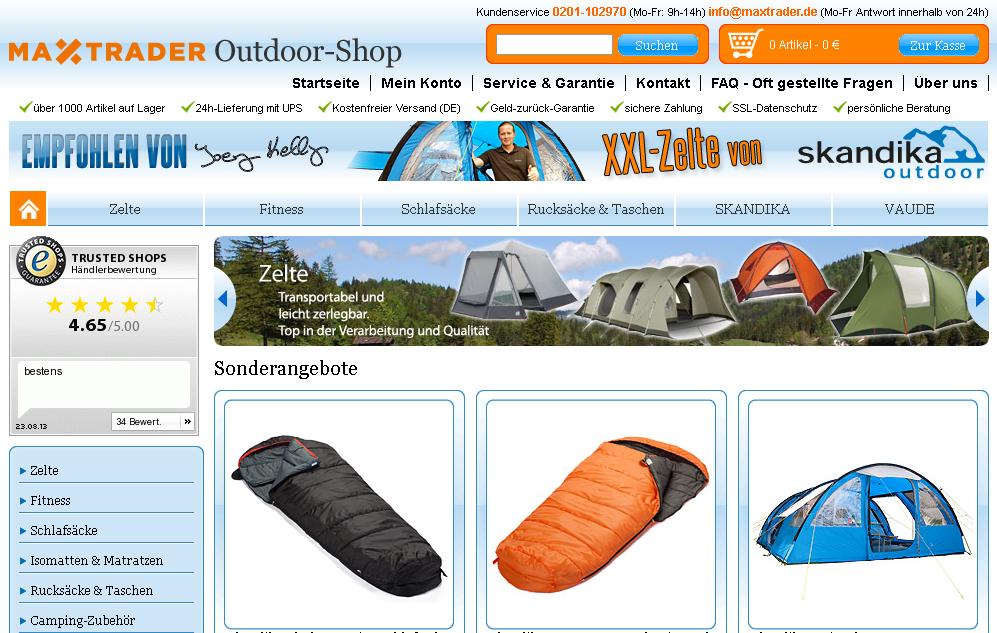 MAX Trader Outdoorshop Gutschein