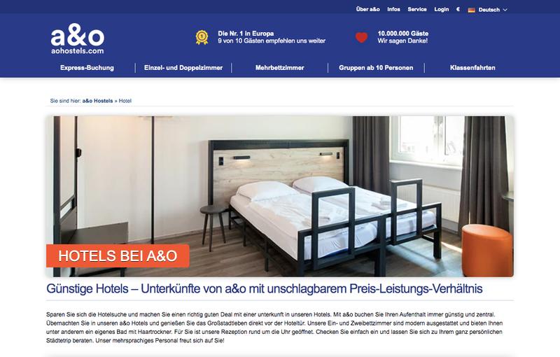 A&O Hotels und Hostels Gutschein