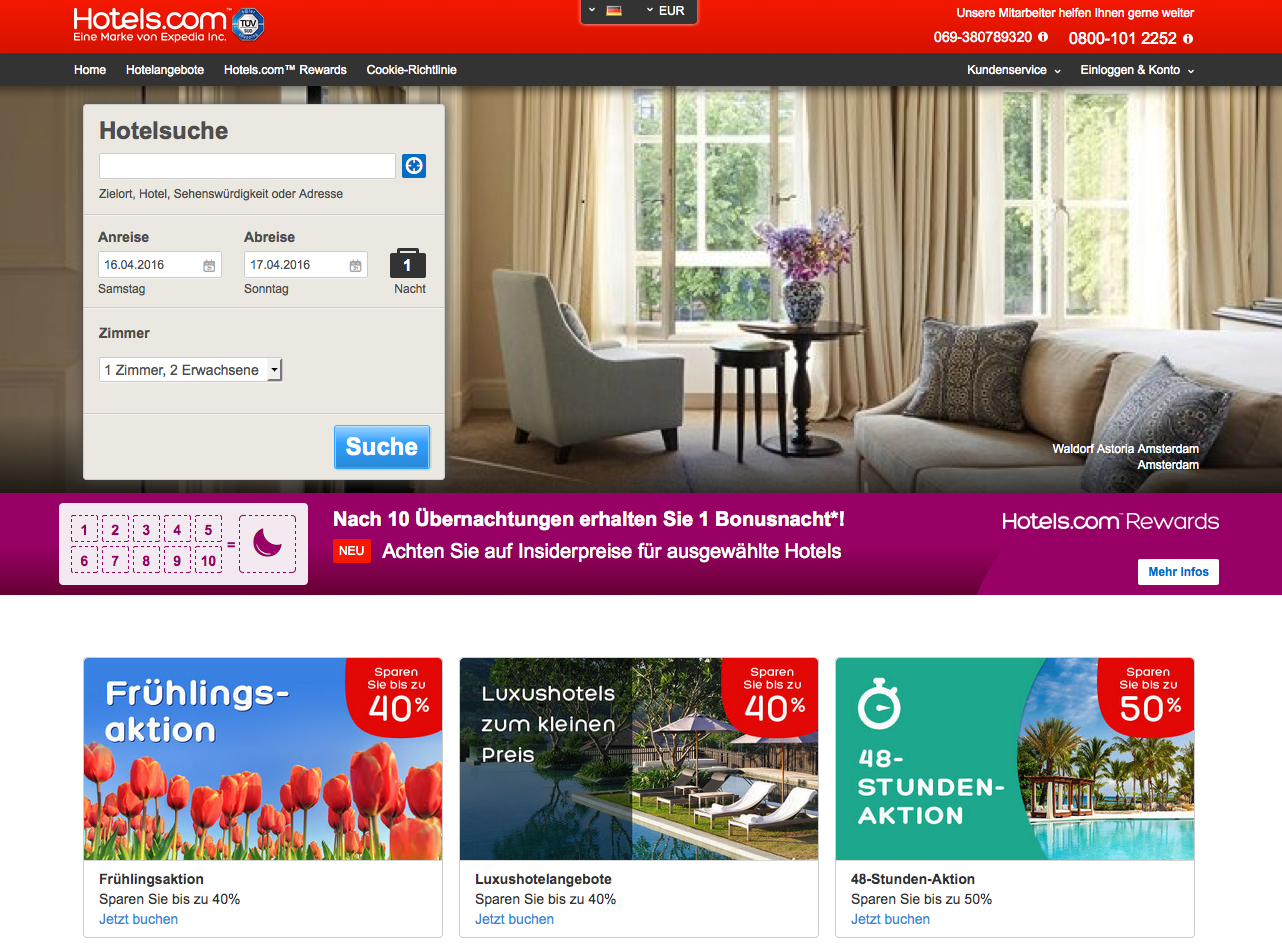 hotels.com AT Gutschein