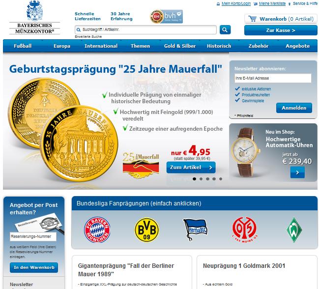 Bayerisches Münzkontor Gutschein