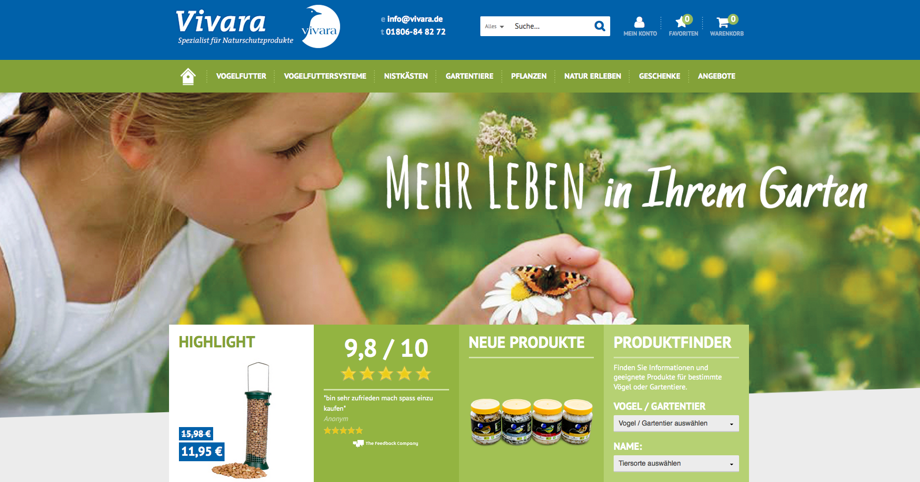 Vivara Naturschutzprodukte Gutschein