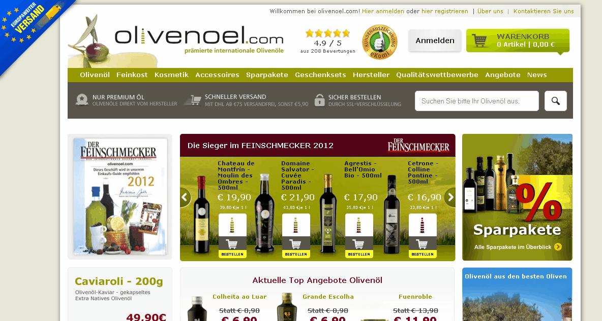 olivenoel.com Gutschein
