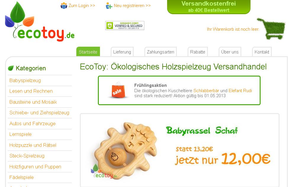 ecotoy.de Gutschein