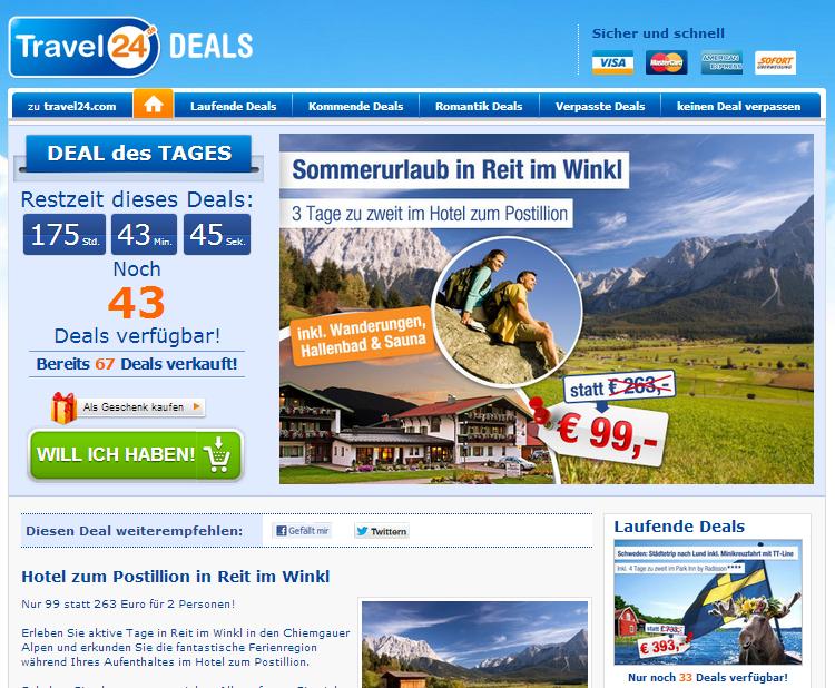 Travel24-deals Gutschein