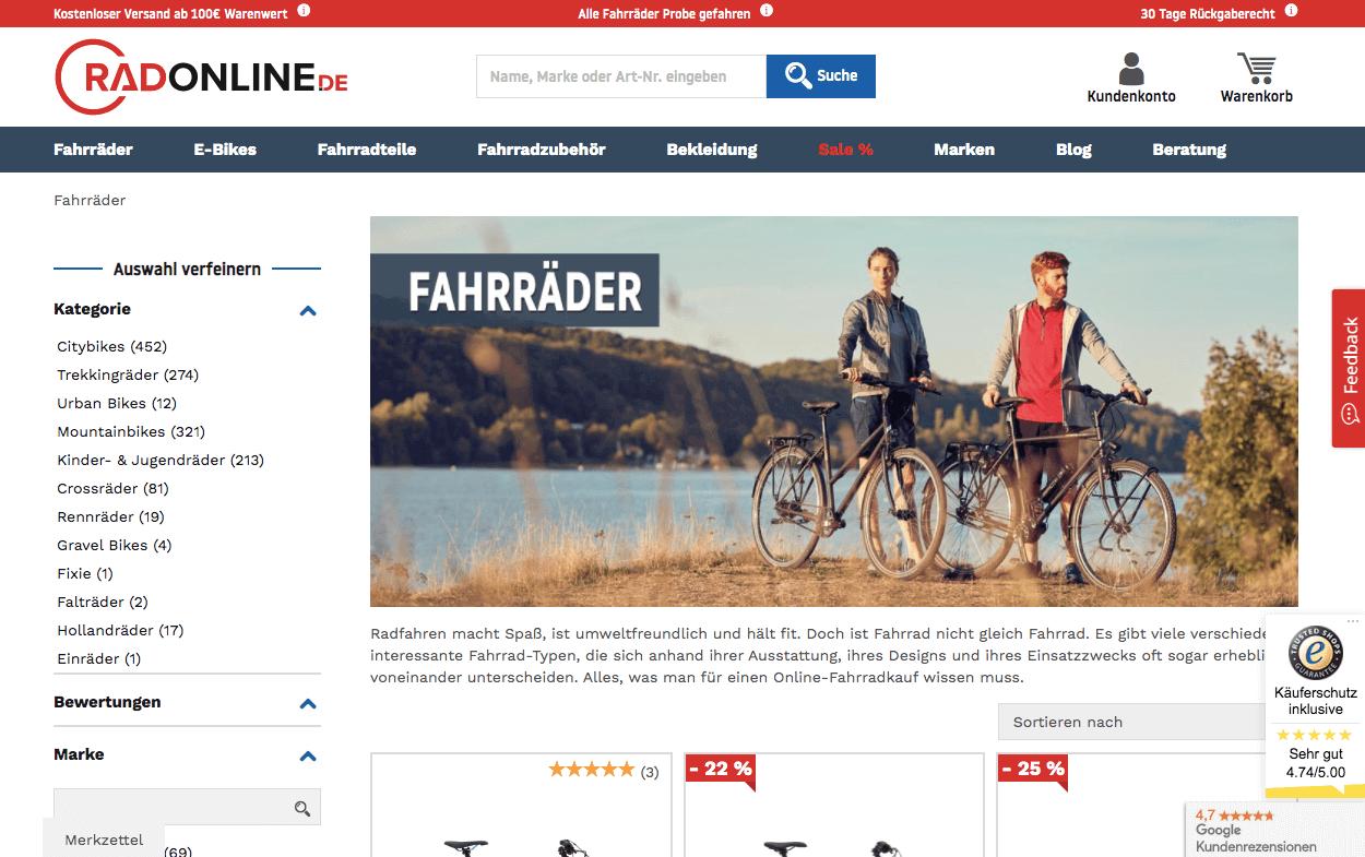RadOnline.de Gutschein