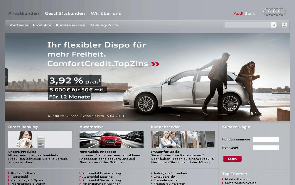 Audi Bank Gutschein