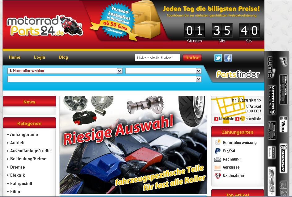 motorradParts24.de Gutschein