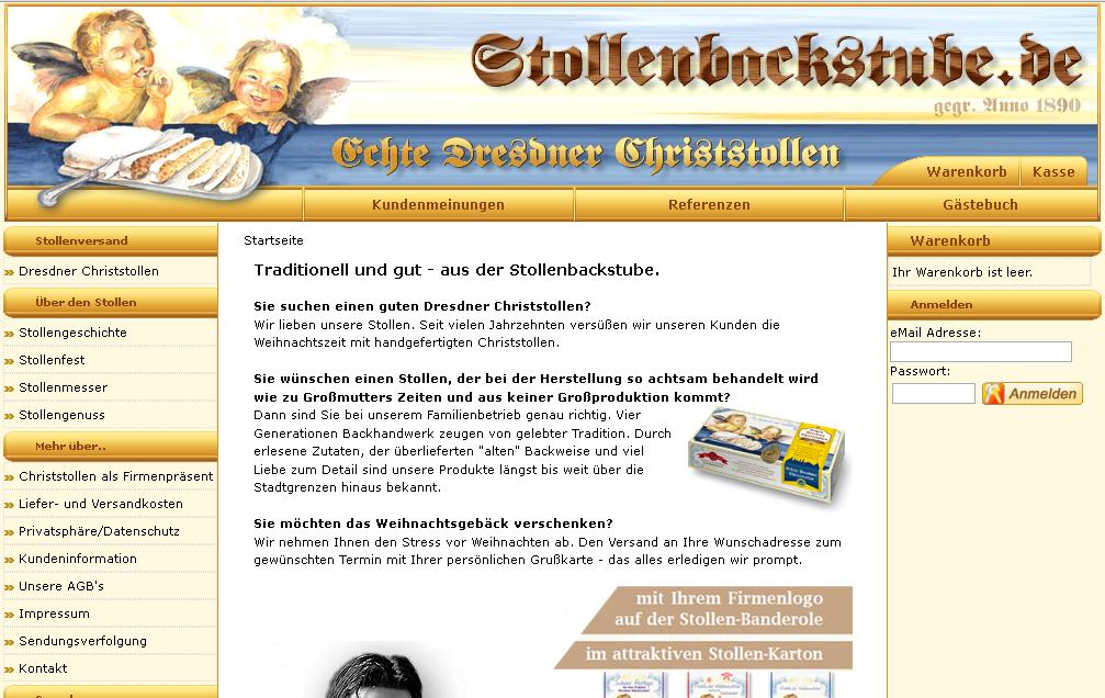 Dresdner Christstollen Shop Gutschein