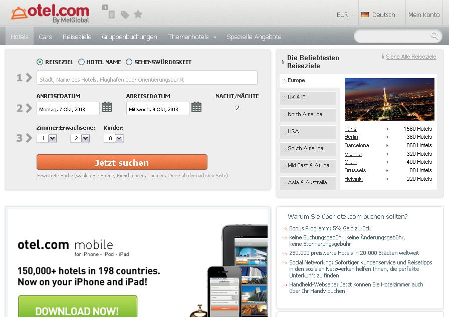 Otel.com Gutschein