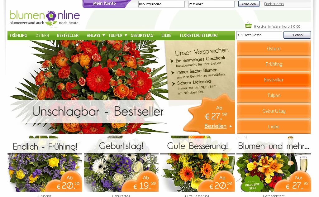 Blumenonline Gutschein