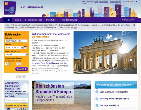 LateRooms.com Gutschein
