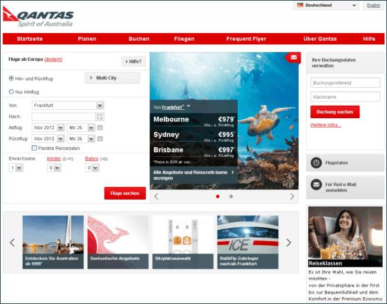 Qantas Airways Gutschein