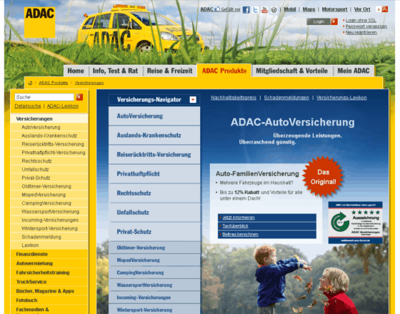 ADAC Versicherungen Gutschein