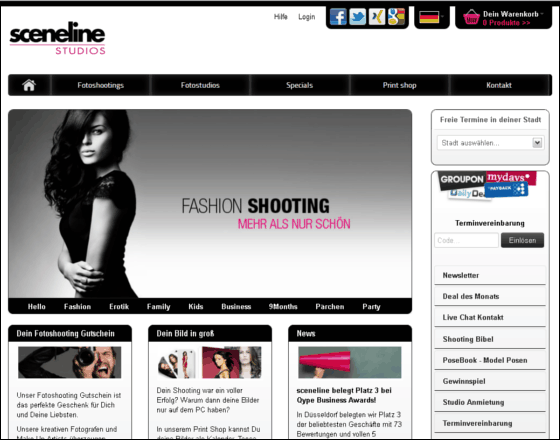 Sceneline Studios Gutschein